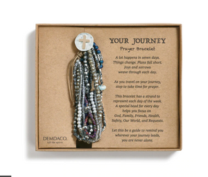 Gray Your Journey Prayer Bracelet