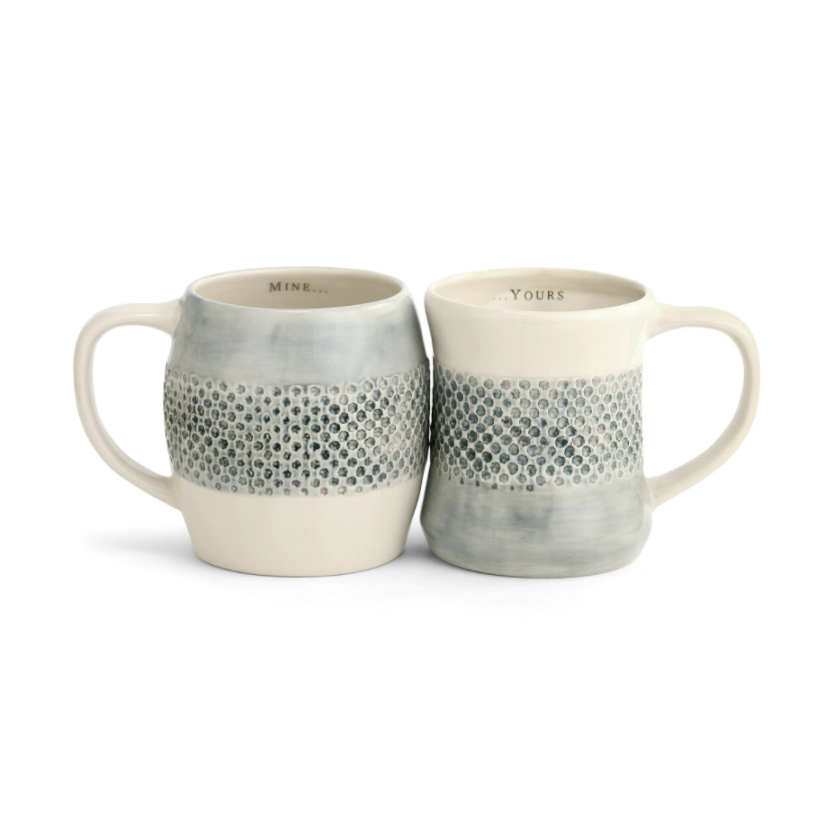 Kitchenware - Mine...Yours Hug Mugs - Set of 2 Assorted