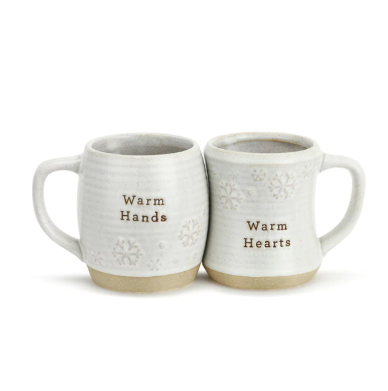 Warm Hands and Hearts Cuddle Mugs Set of 2