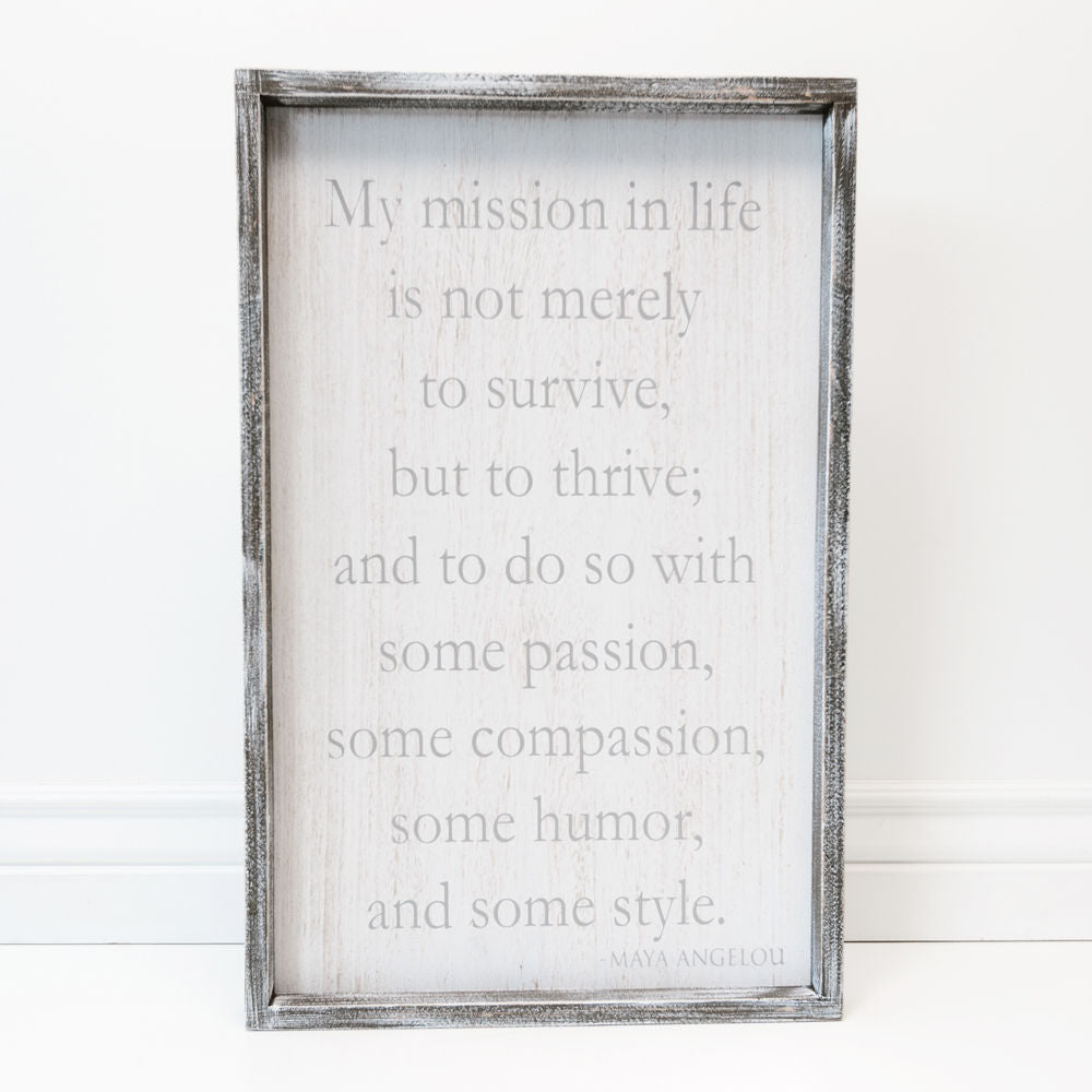 Wall Hanging - Mission In Life