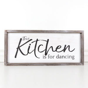 Wall Hanging - This Kitchen Is For Dancing