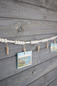 Wall Hanging - Wooden Garland With Clothes Pin