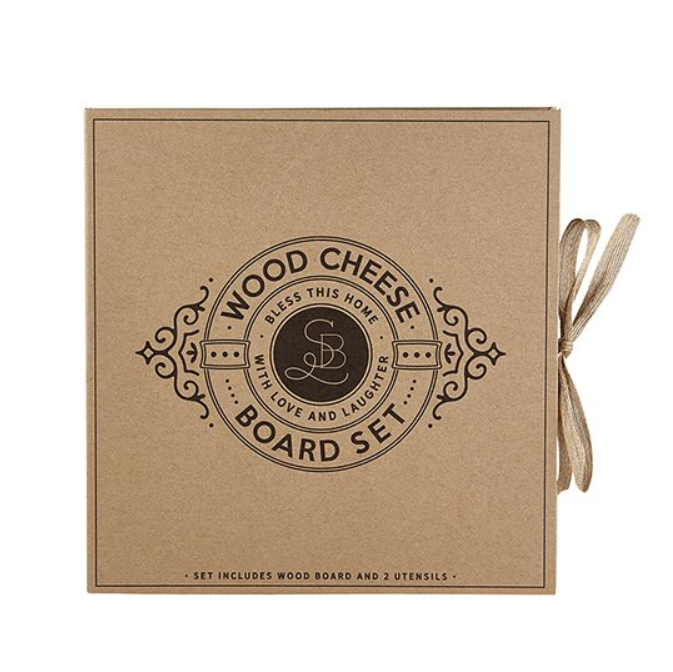 Kitchenware - Cardboard Wood Paddle Cheese Board Set - Bless this Home