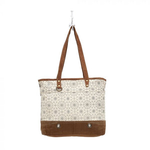 Myra Bag - FERRIS WHEEL PRINT CANVAS TOTE BAG