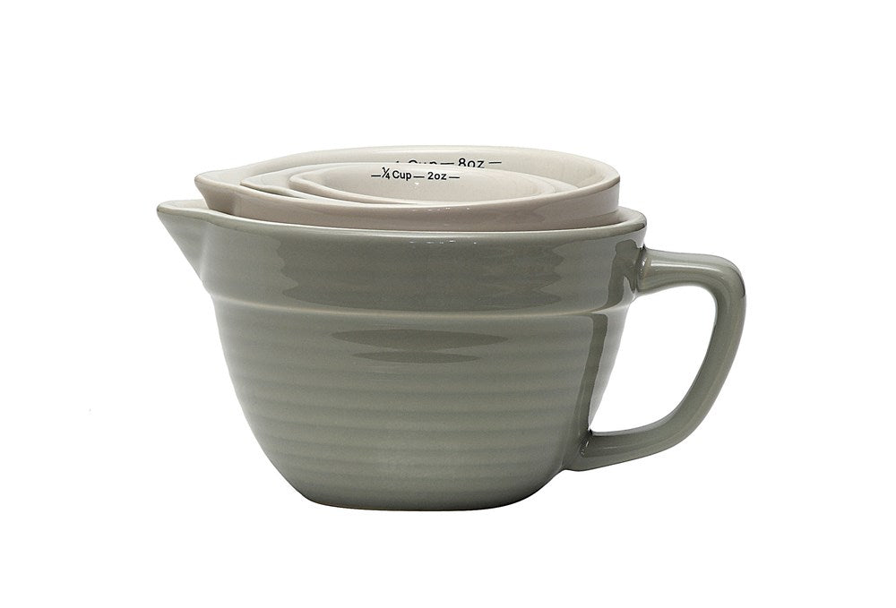 Kitchen ware - Cup Stoneware Batter Bowl Measuring Cups