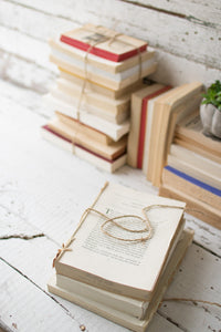 Table Top - Repurposed Book Bundles
