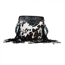Load image into Gallery viewer, Myra Bag - BLACK PANTHER HAND-TOOLED BAG