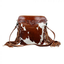 Load image into Gallery viewer, Myra Bag - COWBOY HAND-TOOLED BAG