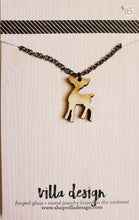 Load image into Gallery viewer, Doe Silhouette Wood Cut Necklace