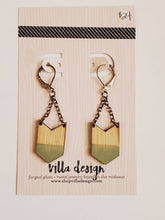 Load image into Gallery viewer, Small Chevron Earrings
