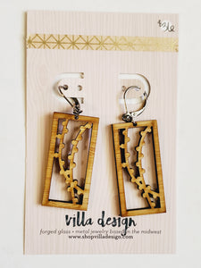 Framed Willow Branch Earrings
