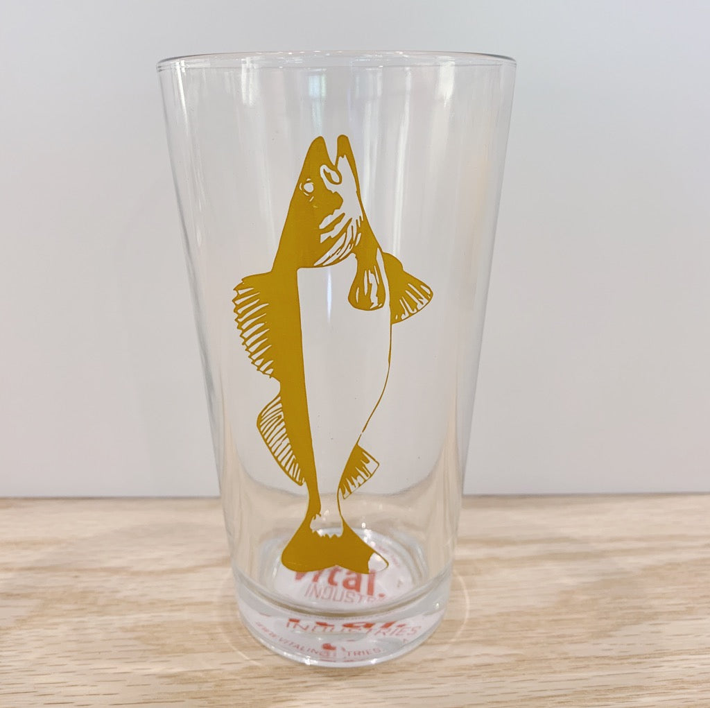Fish Pint Glasses