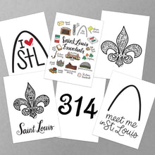 Load image into Gallery viewer, STL Greeting Cards (Variety Pack of 6)