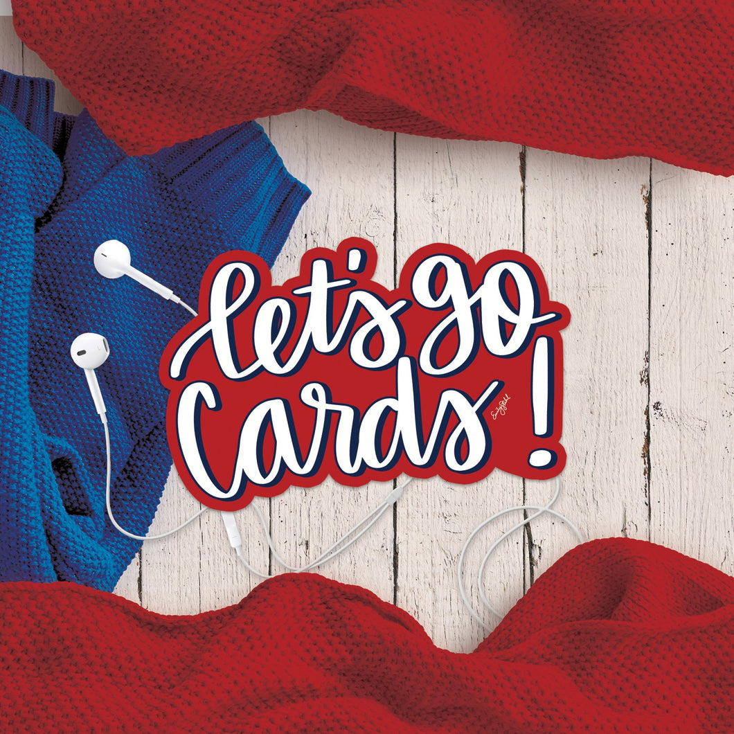 Let's Go Cards Sticker