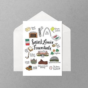 STL Greeting Cards (Variety Pack of 6)
