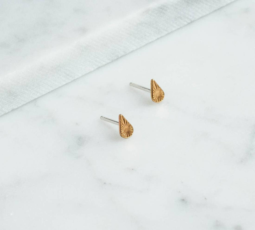 Tiny Starburst Teardrop Studs