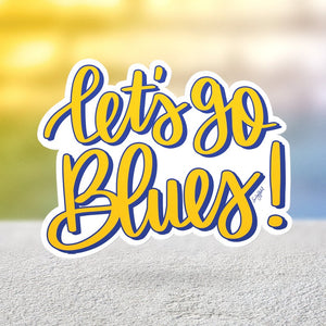 Let's Go Blues Sticker
