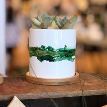 Load image into Gallery viewer, Watercolor Succulent Planter