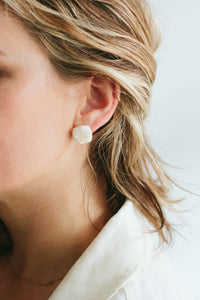 Square Stud Earrings by Voie