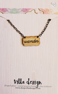 Wander Wood Cut Necklace