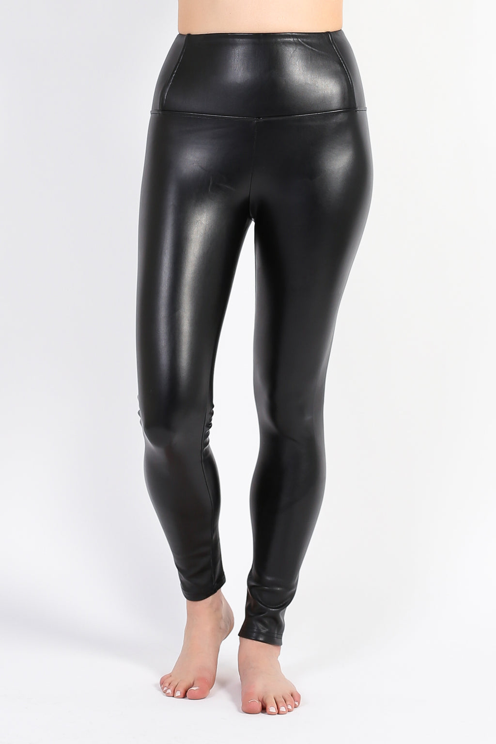 High Waisted Vegan Leather Leggings