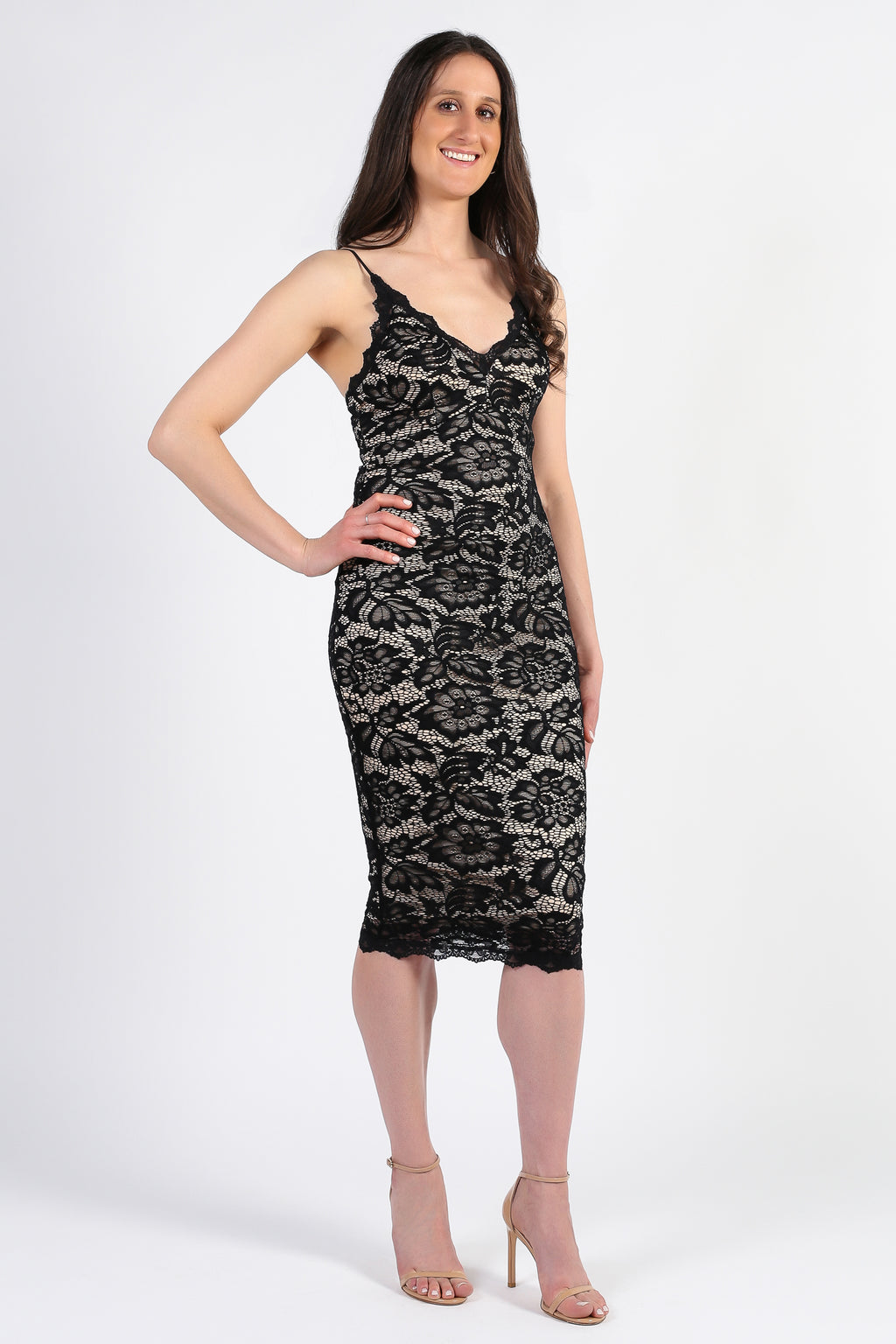 Vivienne Lace Midi Dress