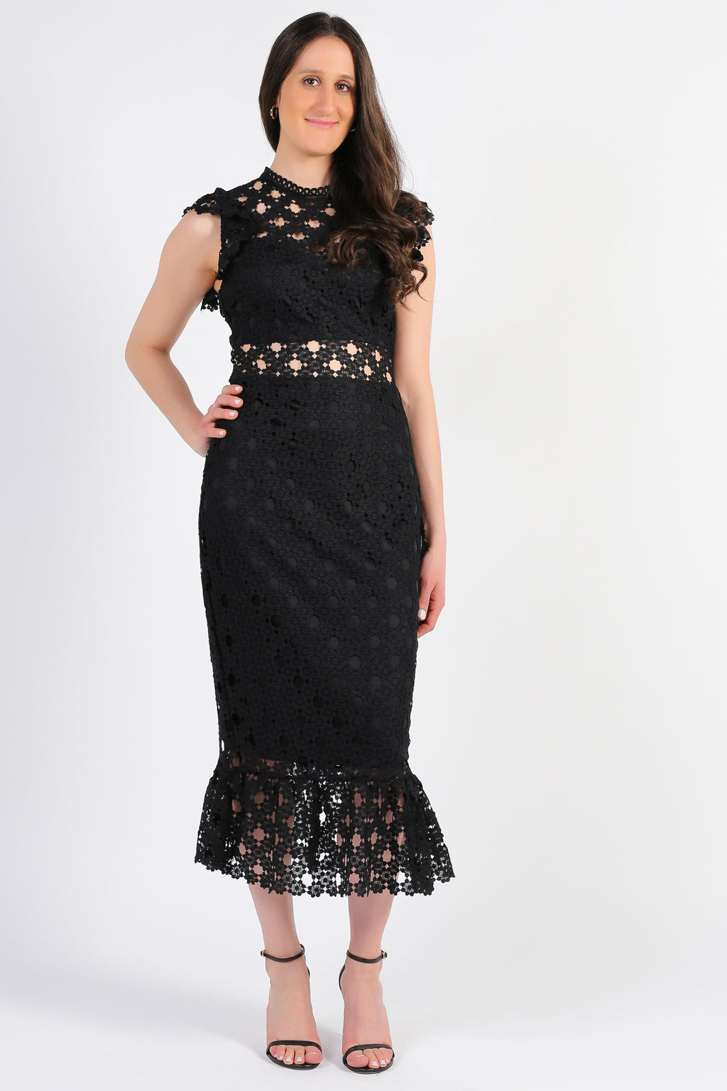 Samantha Lace Trumpet Bottom Midi Dress