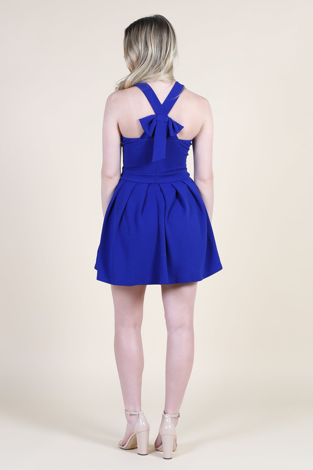 Babydoll Bow Back Mini Dress