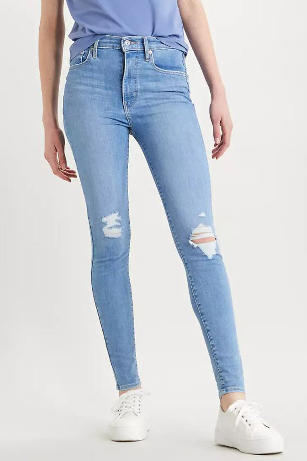 Mile High Super Skinny with Distressing - honey