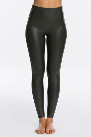 Faux Leather Leggings - honey
