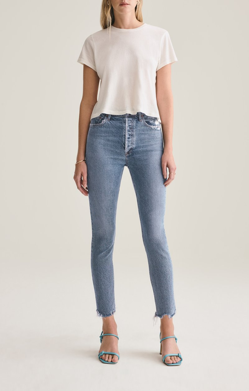 Nico High Rise Slim Fit with Distressed Hem