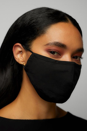 Solid Face Mask with Adjustable Ear Strap