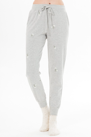 Dainty Floral Joggers - honey