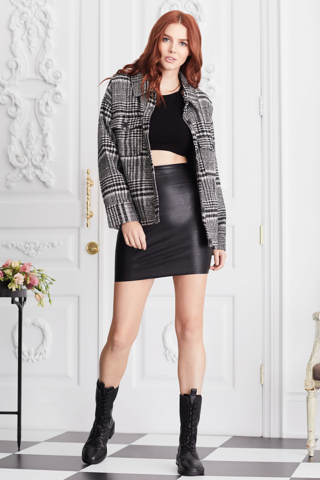 Perfect Control Faux Leather Skirt