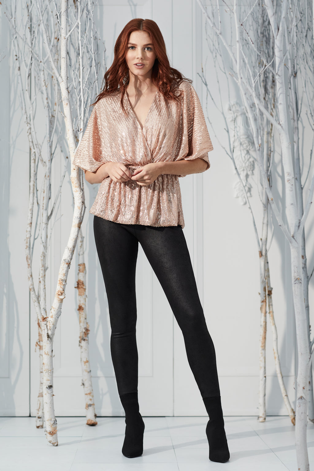 Faux Suede Legging - honey