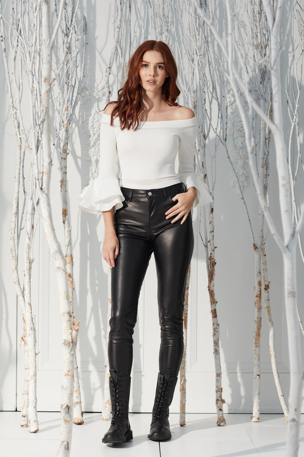 720 High Rise Vegan Leather Pant