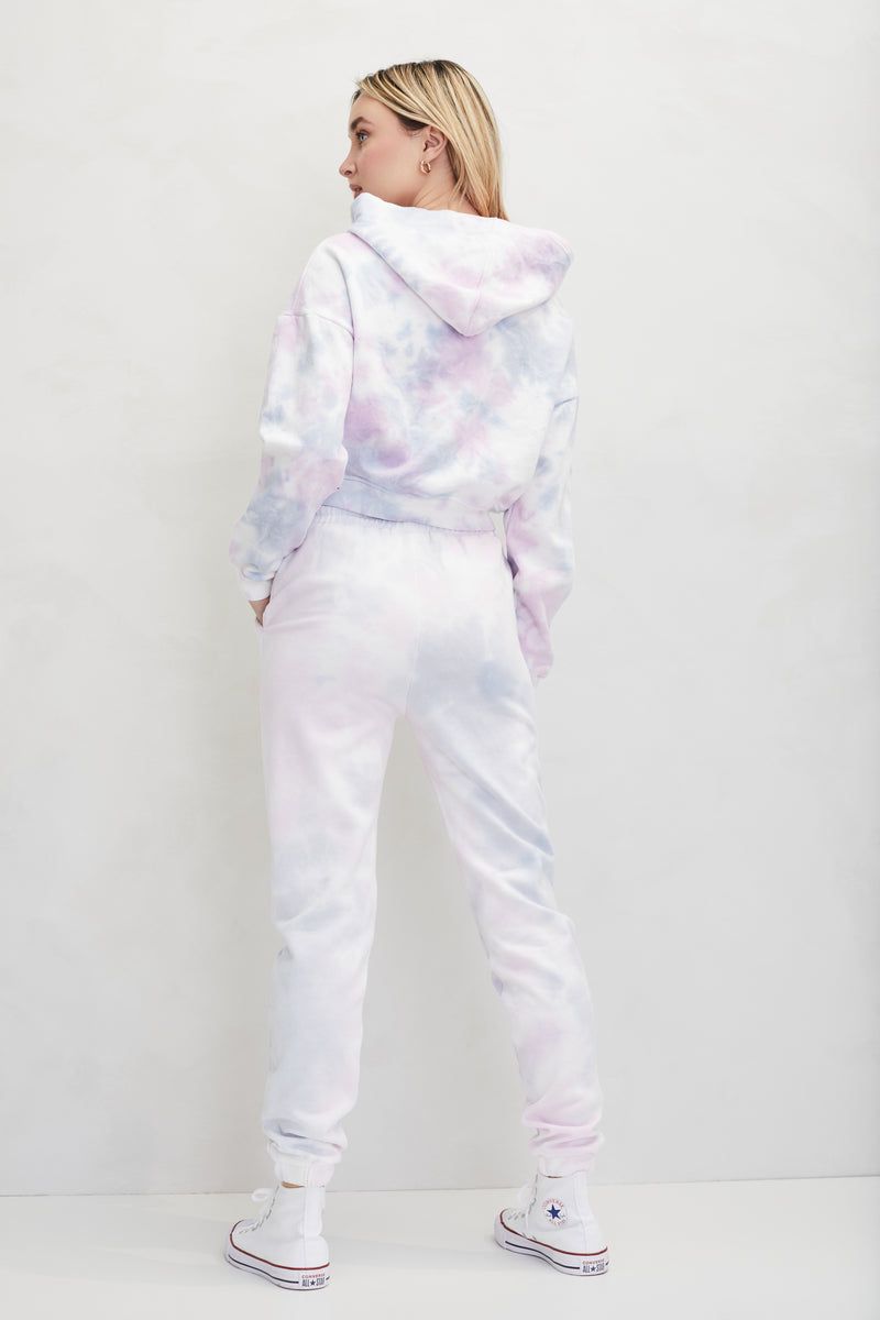 Tie Dye Fleece Sweatpants - honey