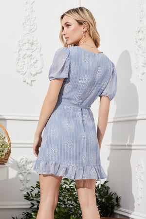 Frilled to Bits Spotted Mini Dress - honey