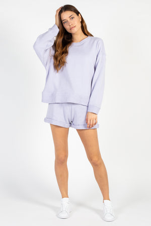 Loop Terry Boxy Crew Neck Sweatshirt - honey