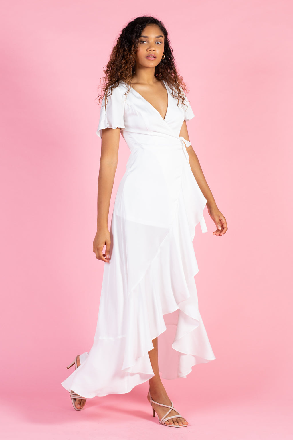 Aida Ruffle Wrap Maxi Dress