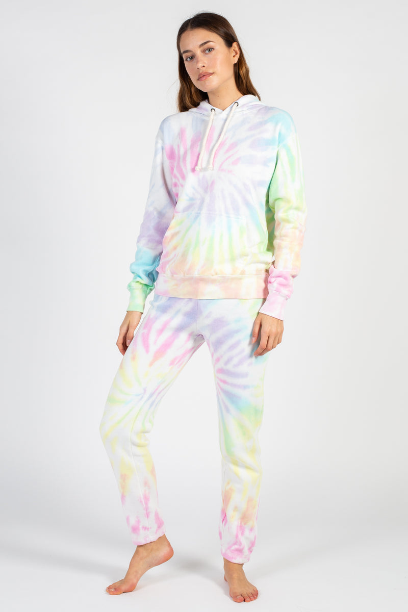 Sunset Tie Dye Burnout Joggers - honey