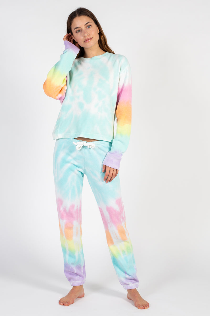 Lollipop Burnout Tie Dye Joggers - honey