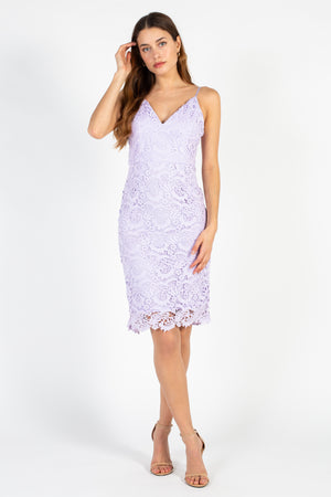 Vintage Embroidered Lace Midi Dress - honey