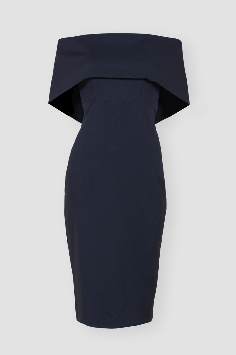 Own the Evening Off Shoulder Midi Dress