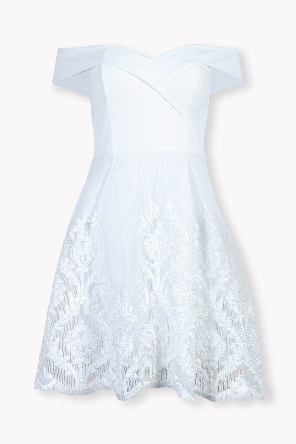 Aimee Embroidered Mesh Mini Dress