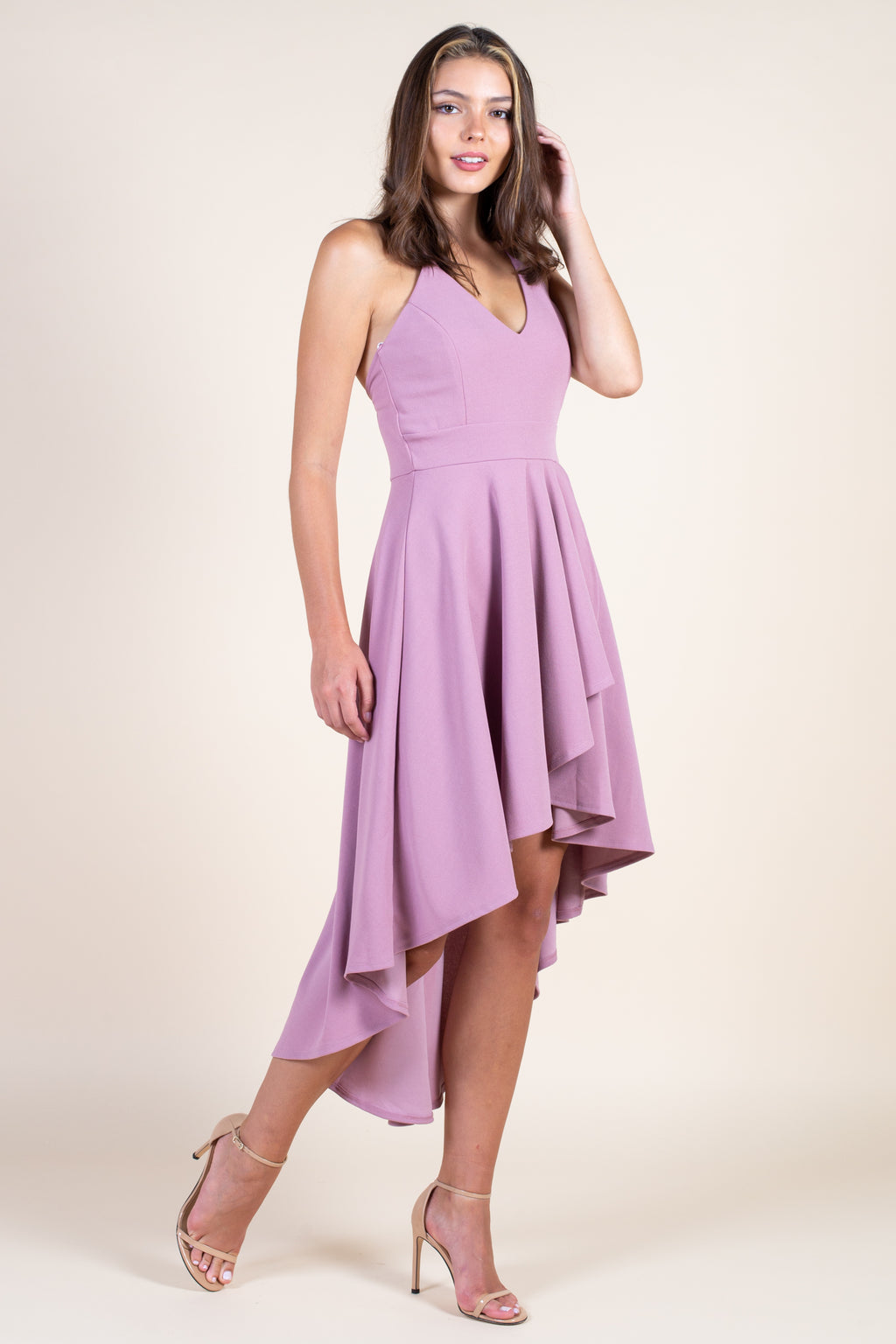 Believe in Love Hi-Lo Midi Dress - honey