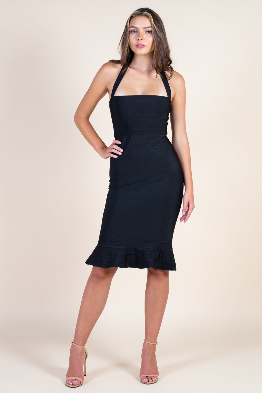 All Mine Trumpet Hem Bandage Dress