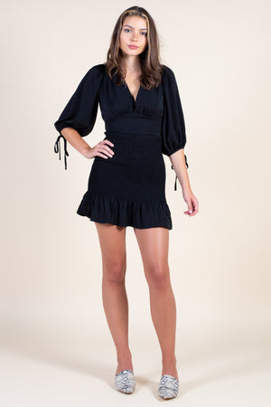 Match Maker Smocked Bottom Mini Dress