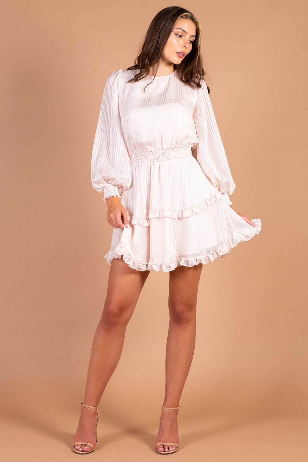 Ava Tie Back Ruffle Mini Dress