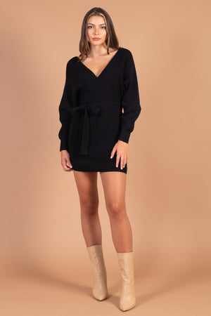 Valentina Tie Waist Sweater Dress